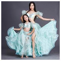 China Elegant Organza Lace Belly Dance Performance Costume,Women Belly Dance Costume on sale