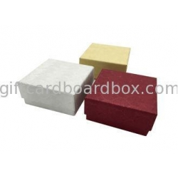China Fancy Paper Square Jewelry Cardboard Box , Cardboard Ring Boxes Handmade on sale