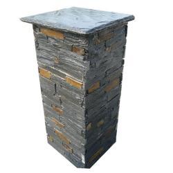China SMC-PC004 Black Slate Stone Pillars on sale