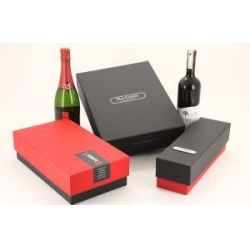 China Customized Paper Cardboard Wine Box/Wine Gift Boxes/Winebox ,Luxury Black Box Wine Packaging on sale