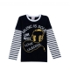 China 2 boys T shirt striped long-sleeved clothes spring and autumn models fake t-shirts Mianshan 10613 on sale