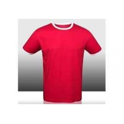 China 100% Polyester Men Red Dry Fit Short Sleeve T-shirt on sale