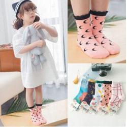 China Lovely jacquard cotton short Lace baby socks on sale