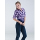 China 100%COTTON WOVEN CHECKS LONGSLEEVE BLOUSE on sale