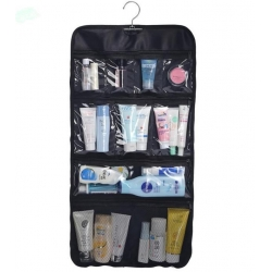 China Transparent Clear Hanging Travel Toiletry Cosmetic Organizer Storage Bag on sale