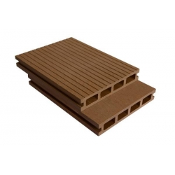 China Fireproof Hollow WPC Deck Flooring Wood Plastic Composite Flooring Boards 145X25A on sale