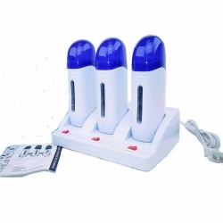 China Belle Triple Roll-on Refillable Depilatory Wax Heater Waxing Hair Removal Machine on sale