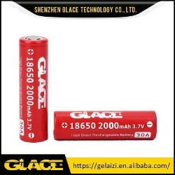 China Glace Factory Price 2100mAh 3.7V Rechargeable Li-ion Lithium 18650 Battery for Flashlight on sale
