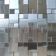 China Polished metal tile 3D raised stainless steel mosaic A6YM040 on sale