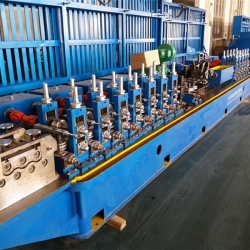 China Steel Wire Protection Pipe Making Machine Tube Forming Mill on sale