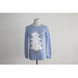 China Jingle Bell Christmas Tree Crew Neck Sweater on sale
