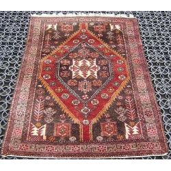 China SEMI ANTIQUE ABADEH PERSIAN VILLAGE RUG CIRCA 1950S on sale