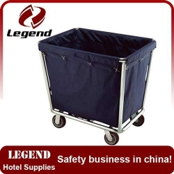 China Durable and easy cleaning hotel laundry cart on sale