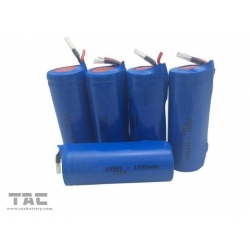 China 3.7V 1000mAh Lithium Ion Cylindrical Battery for Portable Flashlight Li - Ion ICR18500 on sale
