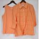 China Denim & Co. Sz XL Eyelet Big Shirt and Knit Tank Spring Melon Top on sale