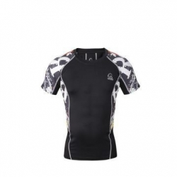China Dry Fit Mens Custom Fitness super hero compression shirt on sale
