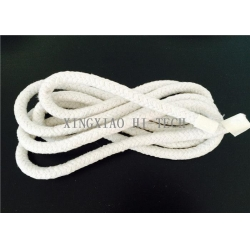 China Wall Braided Ceramic Fiber Heat Resistant Insulation Rope High Temperature 6 - 50mm on sale