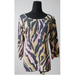 China Knitted Ladies printed 100%cashmere crew neck pullover5 on sale