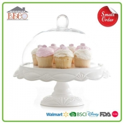 China Melamine Plastic White Cake Stands With Lids And Square Wedding Cake Stands For Sale on sale