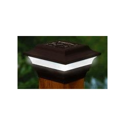 China Imperial (2 - Pack)Solar Fence Post Light 4 x 4 on sale
