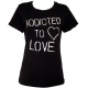 China Addicted Ladies Black T Shirt on sale
