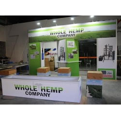 China M series booth 3x6m Modular Aluminum Fabric Display Booth For Industrial Hemp on sale
