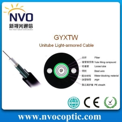 China Fiber Optical Cable GYXTW Central Loose Tube Cable on sale