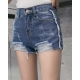 China Fashion burr jeans spring short jeans for women on sale