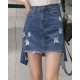 China Korean style denim denim skirt spring student short skirt on sale