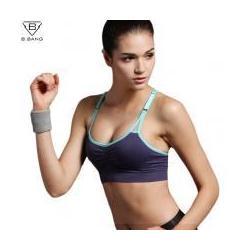 China Professional Sports Mesh Fitness Women Yoga Top Sexy Push-up Sports Bra Yoga Fit #10532 on sale