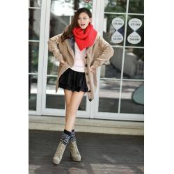 China Women Khaki Cotton Blends Sweater on sale