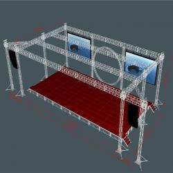 China aluminum Truss outdoor performace booth Exhibition Aluminum Spigot Truss on sale