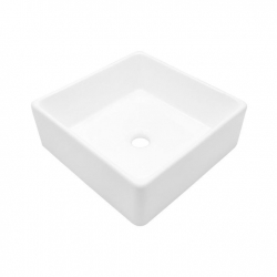 ... Counter Small Square White Vessel Sink, SS-VD2075 Vessel Sink on sale