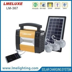 China Hong Solar lighting system with Brighter LED Bulbs and Mobile Phone Charging solar energy system on sale