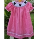 China Polka Dots Mickey Smocked Toddle Dresses on sale