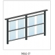 China Aluminum art balcony glass fence -padlg07 on sale