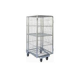 China Folding Nestable Four Sides 4 Sided Full Security Wire Mesh Roll Cage on sale