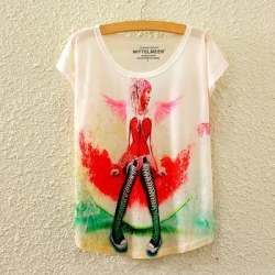China Summer dry fit colorful print girls shirt on sale