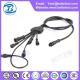 China 2 core black lines waterproof male female plug on sale