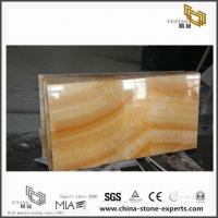 Honey Yellow Transparent ONYX Marble Stone Tile for Bathroom Decoration