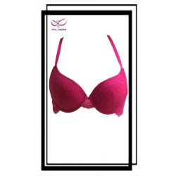 China High Quality Breathable Lightly Padded Lift Breast Bra Sexy Strappy Push Up Bra Hot ES003C on sale