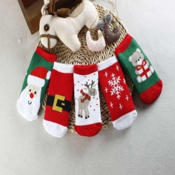 China New Cotton Cute Christmas Theme Baby sock slip-resistant floor thick warm sock cartoon S1119 on sale