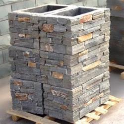 China Grey Slate Stone Pillar YXNP-013A on sale