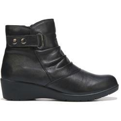 China Spring Step Women's Smore Wedge Booties (Black Leather) - 42.0 M on sale