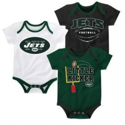 China NEW YORK JETS Infant Bodysuit Set, 3 Piece on sale