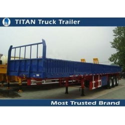 China 40 Feet 2 axles / 3 axles Flatbed Semi Trailer , shipping container trailers on sale