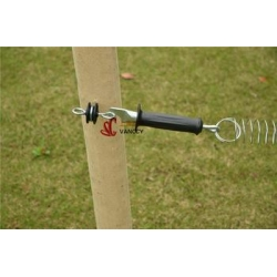 China black color gate handles insulators wood post Hot Sale Farm Electric Fence Post ring Insulator on sale