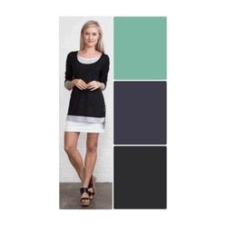 China Simply Noelle shirt Triple layer button top black, pistachio green, harbor blue size S to Xl on sale