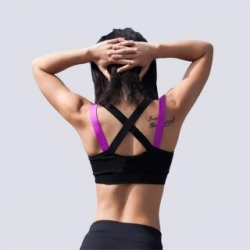 China Sexy women fitness bra padded compression sport bra top Sportswear Quick dry elastic crop top on sale