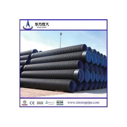 China hot sell corrugated large diameter steel reinforced spiral HDPE pipe from China on sale